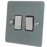Flat Plate Pewter Fused Spur Switches